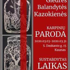 Giedrė Balandytės Kazokienės karpinių paroda
